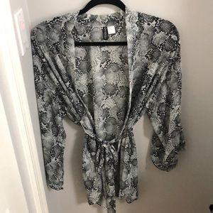 H&M Snakeskin Pattern Kimono